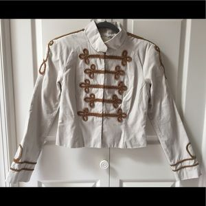 Military style jacket. BB Dakota. Med. Stone&Tan.